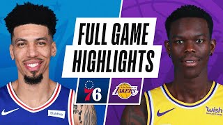 76ERS at LAKERS | FULL GAME HIGHLIGHTS | March 25, 2021