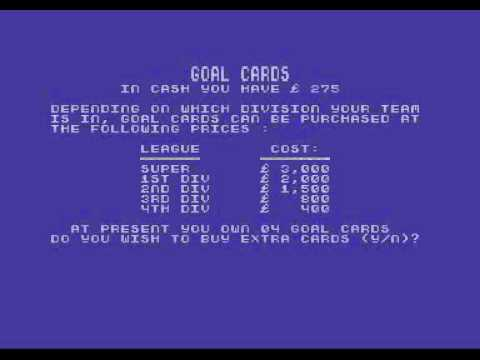 Footballer Of The Year (C64) [1986]