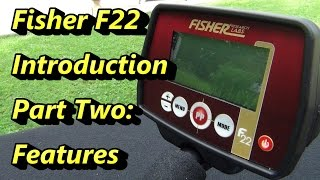 metal Detector Review: Fisher F22 Features
