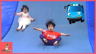 타요 키즈카페 어린이 놀이 ♡ 꼬마버스 타요 자동차 장난감 미끄럼틀 тайо автобус Игрушки Tayo kids cafe toys | 말이야와아이들 MariAndKids