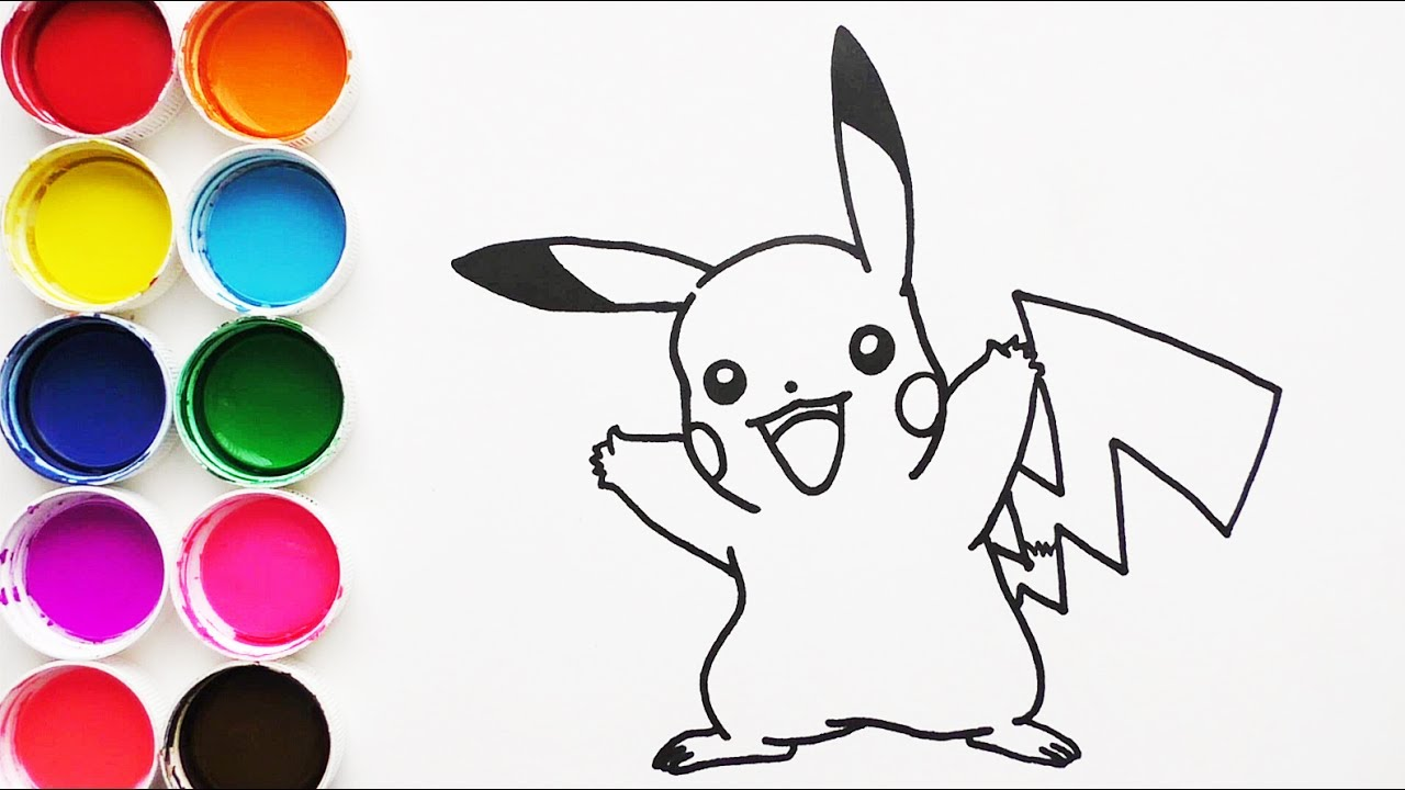 Dibuja Y Colorea Pikachu De Pokemon Dibujos Para Niños Learn Colors Funkeep