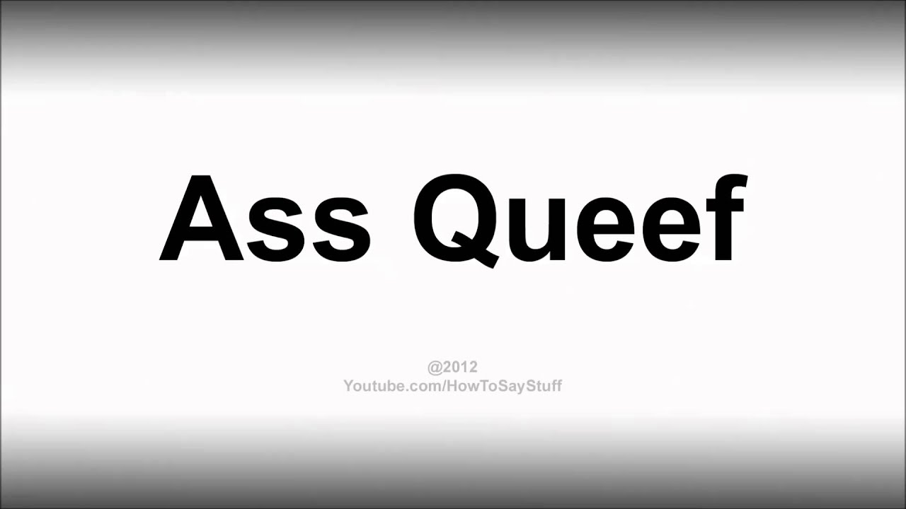 How do you spell queef