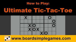How to Play - Ultİmate Tic-Tac-Toe