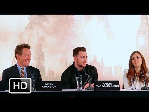 Godzilla press conference: Bryan Cranston, Aaron Taylor-Johnson, Elizabeth Olsen, Gareth Edwards