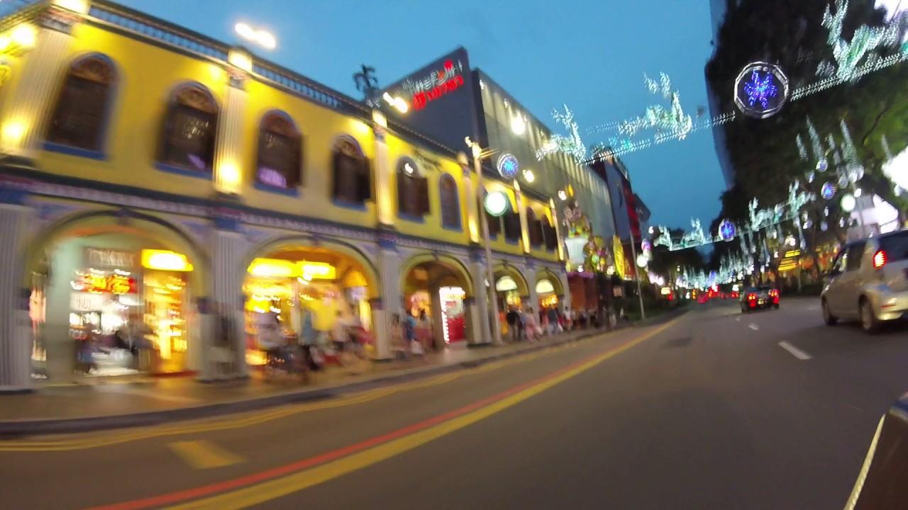 Motorbike ride through Orchard Road Singapore