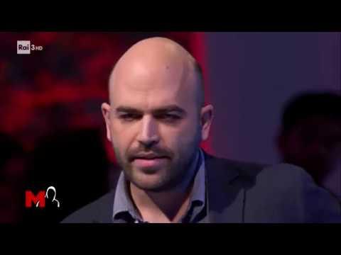Intervento di Roberto Saviano: economia e legalità - M di Michele Santoro 11/01/2018