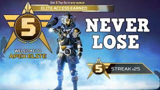 How i Never lose in Apex Elite Mode.. (My Best Win Streak & All Legendary Hunt Challenges Complete)