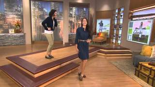 Clarks Bendables Ashland Spin Leather Slip-on Shoes with Jacque Gonzales