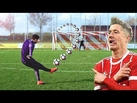 Lewandowski vs freekickerz ⚽ Free Kick Shootout