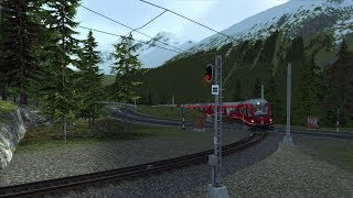 Lets Play Train Simulator 2018 Bernina Pass Teil 1