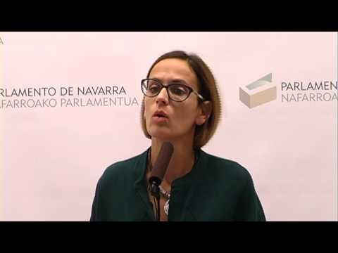 Declaraciones de María Chivite tras la Junta de Portavoces del Parlamento de Navarra 7-11-16