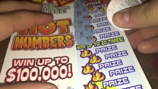 Texas Lottery $5 Hot Numbers Scratch Off #1