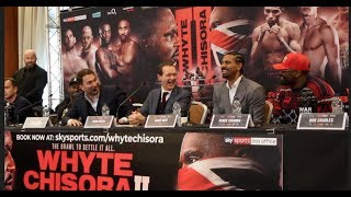 A*** BEADS, CARROTS & PAYING JUDGES! - WHYTE, CHISORA, HEARN & HAYE - HILARIOUS PRESS CONFERENCE