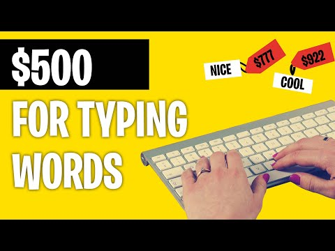 Earn $500+ FOR TYPING WORDS *New Typing Jobs 2021*   Make Money Online