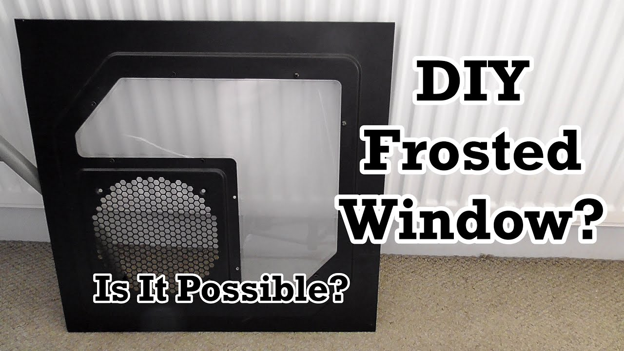 how to make a window frosted
