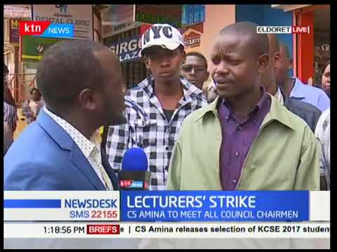 Moi University students react to the prolonged lecturer's strike