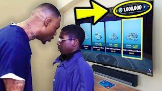 Kid STEALS DADS Credit Card To Buy V-Bucks! (fortnite)