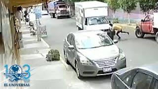 Se lanza contra camioneta y provoca accidente en Iztapalapa