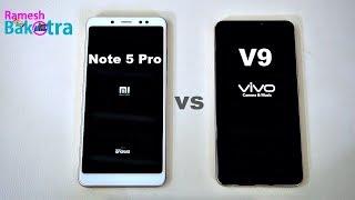 Vivo V9 vs Redmi Note 5 Pro SpeedTest and Camera Comparison