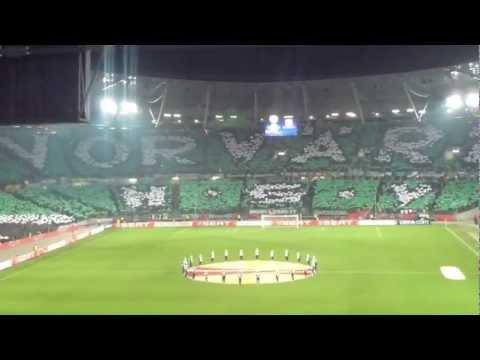 Hannover 96 - Atletico Madrid   Spieleraufstellung-Alte Liebe-Choreographie