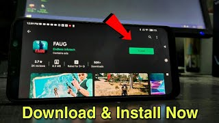 How to Install Real FAU-G Game | Faug Mobile Available On Playstore