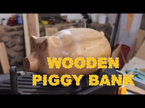 How To Make a Wooden Piggy Bank For Saving Money at Home