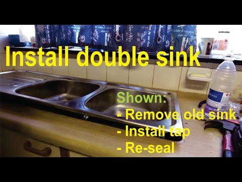 How to remove and install a double kitchen sink / basin - Detailed!