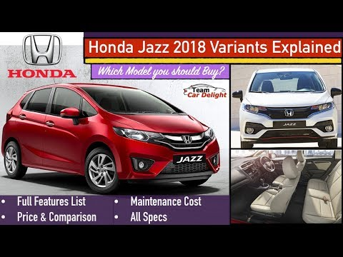 Jazz Facelift 2018 Variants Explained | Base S Model Vs V Model Vs VX Top Model VX Features,Price