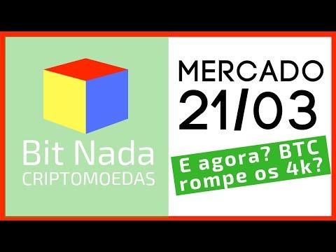 Mercado de Cripto! 21/03 Bitcoin rompe os 4k? / McDonalds e criptomoedas