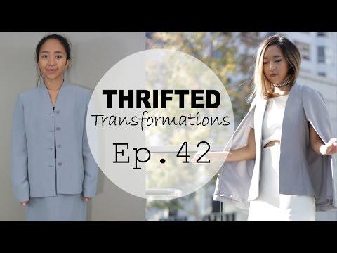 Thrifted Transformations  | Ep. 42 (DIY Cape Blazer)