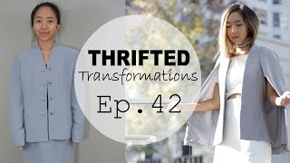 Thrifted Transformations  | Ep. 42 (DIY Cape Blazer)