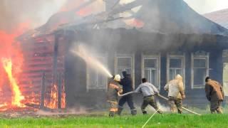 Пожар в деревне Захаровка 08.06.13