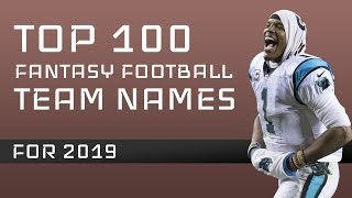 Fantasy Football Team Names: 2019
