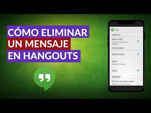Cómo Puedo Borrar o Eliminar un Mensaje en Hangouts