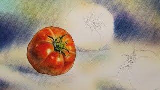 Foundation Course in Watercolor 20 - Momotaro Tomato I 基礎水彩示範 - 桃太郎番茄 I
