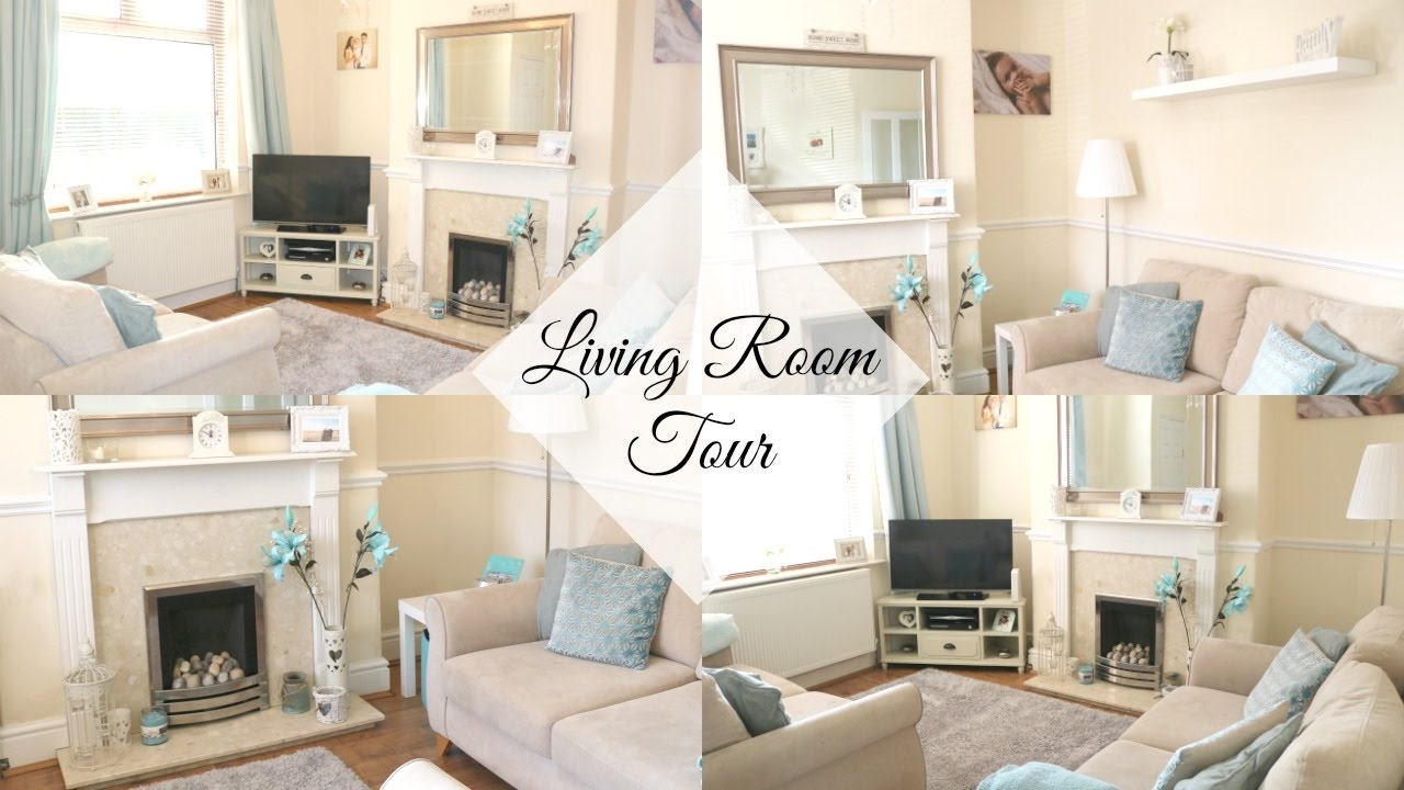 LIVING ROOM TOUR | GREY, WHITE & DUCK EGG BLUE | HOME RENOVATION ...