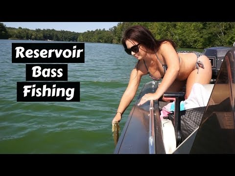 Bass Fishing At Rainbow Reservoir ~ Catching Largemouth And Smallmouth Bass