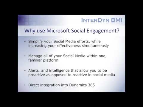 Simplify Your Social Media Efforts with Social Engagement for Dynamics 365