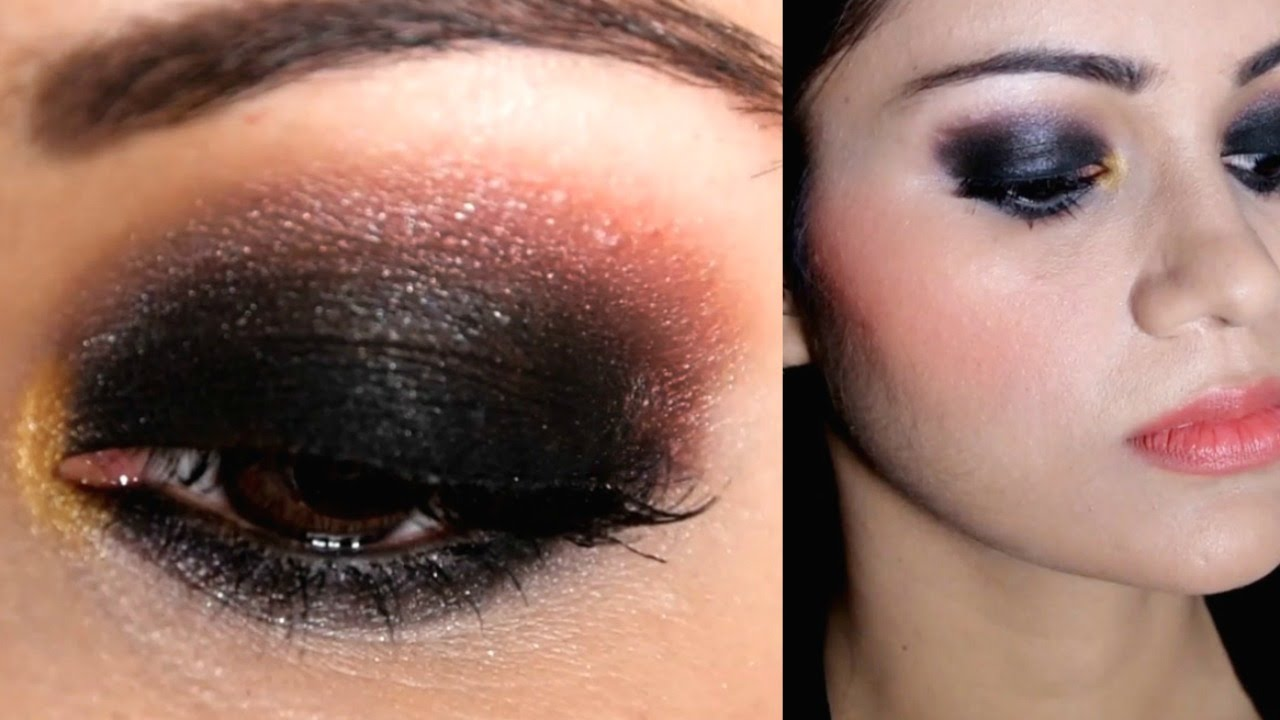 How do i do black smokey eyes
