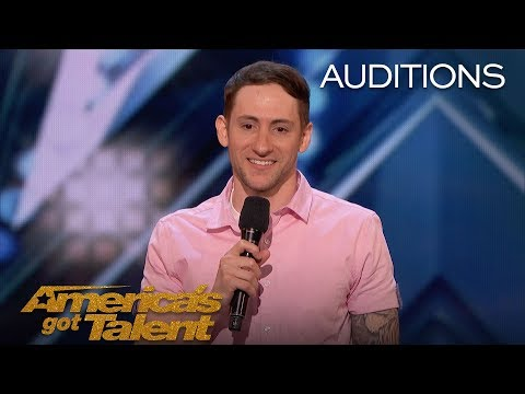 Samuel J. Comroe: Comedian With Tourette Syndrome Impresses Crowd - America's Got Talent 2018