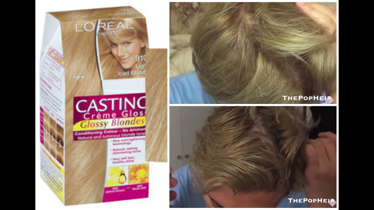 Review Demo L Oreal Casting Creme Gloss 910 Iced Blonde