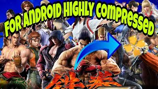 How to download Tekken 7 ppsspp mod for android highly compressed