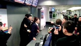 Beijing airport fight between China Eastern staff and aggrieved travelers