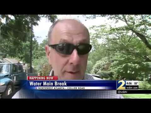 Watermain break in NW Atlanta leaves families with low water pressure