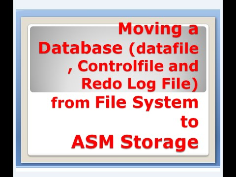 Moving a Database (datafile and Controlfile and Redo Log File) from File  System to ASM Storage
