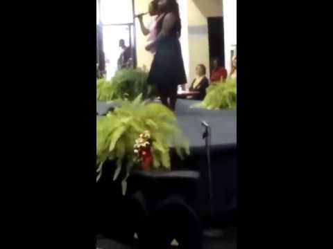 LaToya Crawford sings Hush at Brooks County Middle School