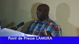 POINT DE PRESSE LAMUKA  AVEC PIERRE LUMBI