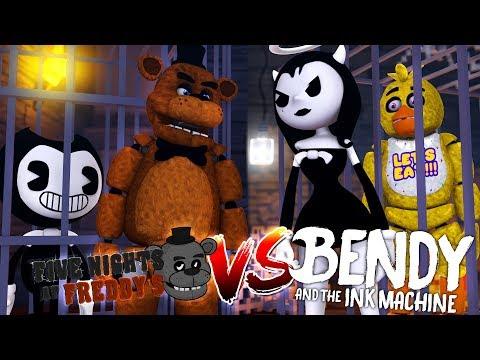 Minecraft FNAF FREDDY V'S ALICE ANGEL - BENDY & CHICA ARE DATING & GET LOCKED IN THE BASEMENTS!!