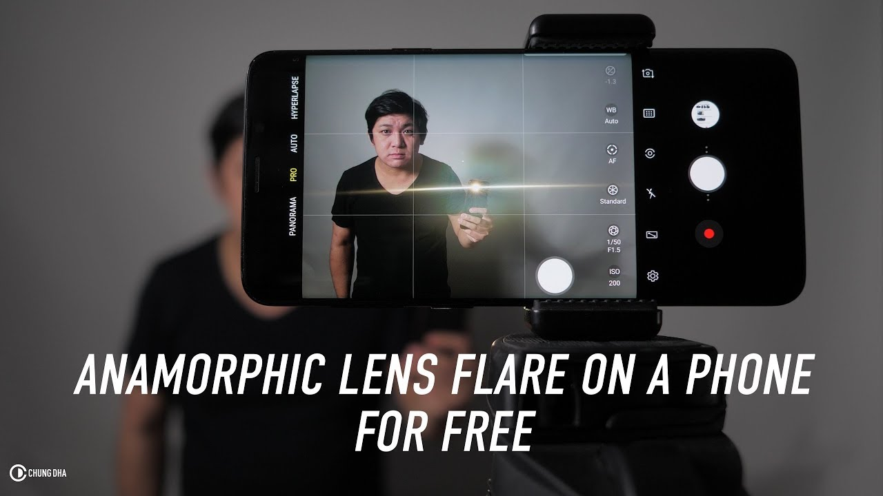 Anamorphic Lens Flare Phone Hack Tutorial // Chung Dha
