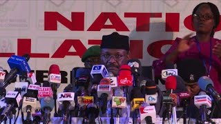 Official announcement: Nigeria presidential election result